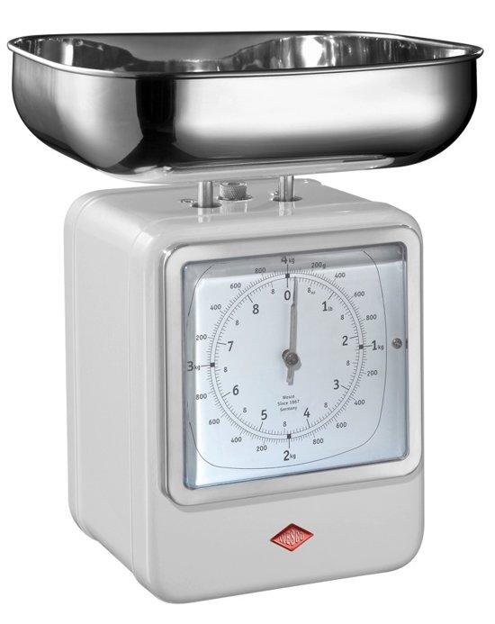 Wesco Keukenweegschaal met klok Wit
