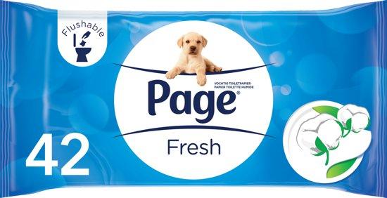 Page Fresh - 42 stuks - Vochtig Toiletpapier Navulling