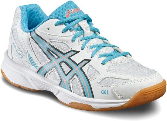 Asics Gel-Flare 5 indoorschoenen Junior  Sportschoenen - Maat 39 - Unisex - wit/blauw