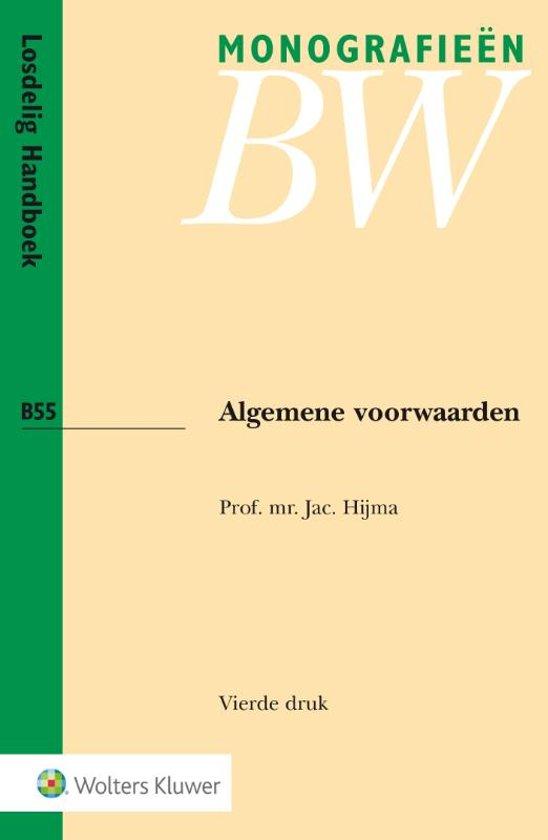 Boek cover Algemene voorwaarden van Jac. Hijma (Paperback)