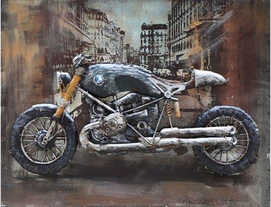 3d Schilderij Metaal.Schilderij Metaal 3d Motor Moto