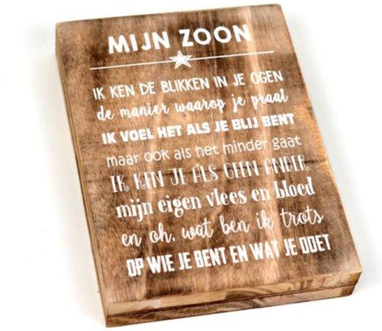 Ongebruikt bol.com   Wandborden Hout Spreukbord Zoon Woondecoratie Cadeau WL-67