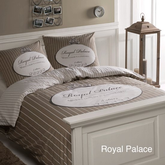 Day Dream Royal palace - dekbedovertrek - flanel - tweepersoons - 200 x 200/220 - Zand