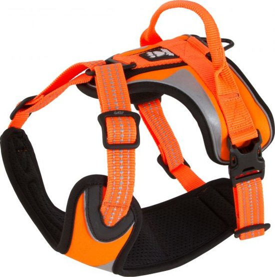 Hurtta dazzle padded harness voor hond oranje 40-45 cm