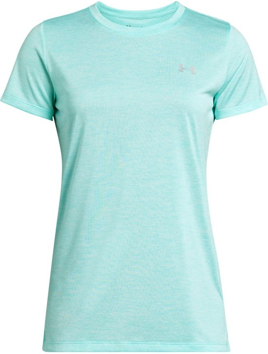 9562427aa Under Armour Tech SSC-Twist Sportshirt Dames - Neo Turquoise - Maat M