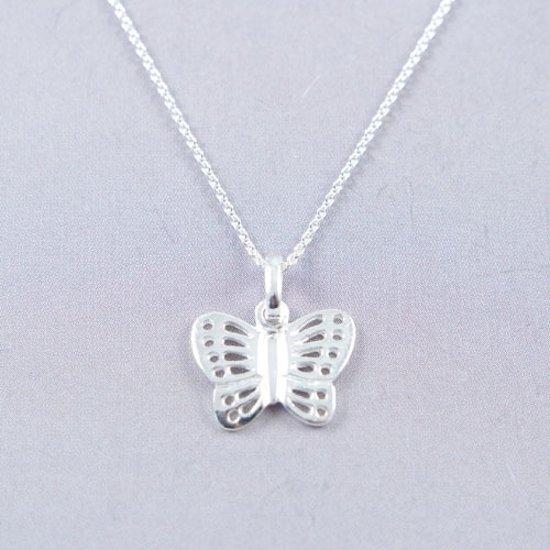 laatste stijl goede textuur outlet winkel House of Jewels - Zilveren ketting met een Zilveren Vlinder hanger - 42cm