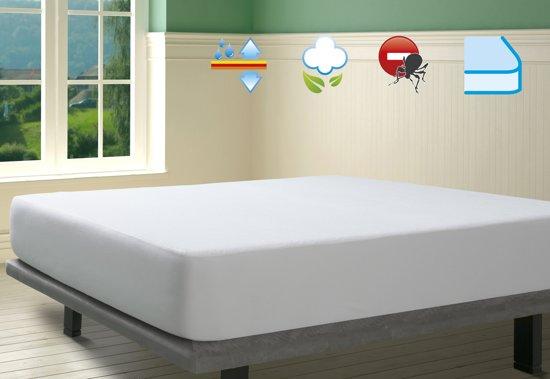 SAVEL – Waterdichte en ademende, 100% katoenen badstof matrasbeschermer  – verkrijgbaar in diverse maten – 160x200cm