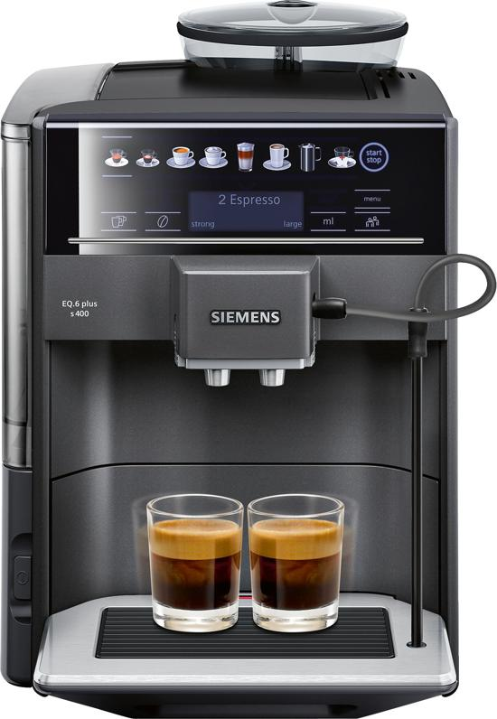 siemens te654319rw eq6 plus espresso volautomaat antraciet. Black Bedroom Furniture Sets. Home Design Ideas