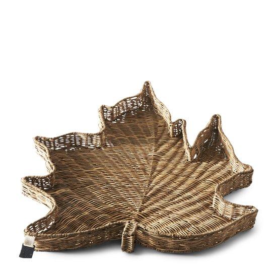 Rivièra Maison Rustic Rattan Maple Leaf Serving Tray - Dienblad - Rattan - Bruin