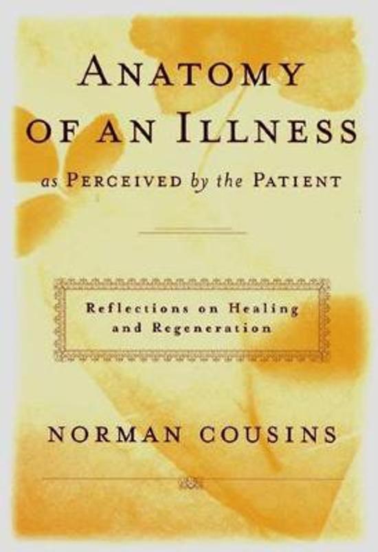 Bol Anatomy Of An Illness Norman Cousins 9780393041903 Boeken