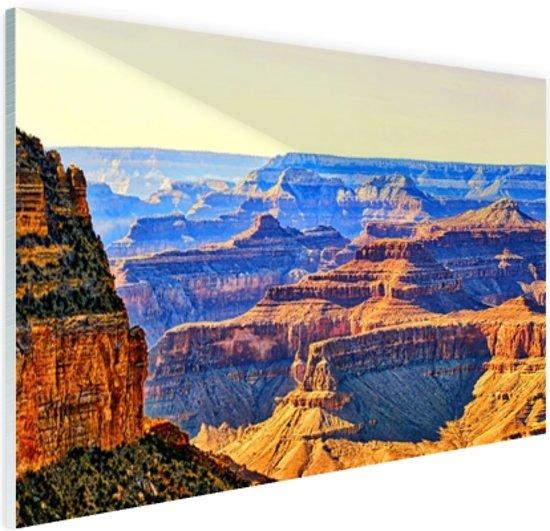 Uitizicht over Grand Canyon Glas 60x40 cm - Foto print op Glas (Plexiglas wanddecoratie)