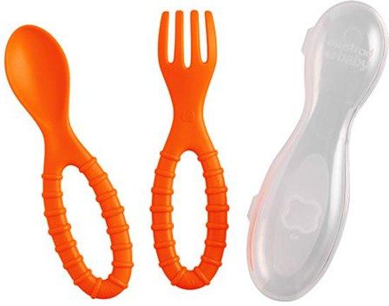 Mastrad LilKinderbestek Lepel en Vork -  2 Stuks - Oranje