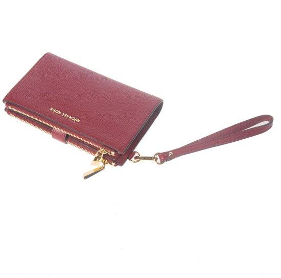 0f6bb5bceec bol.com | Michael Kors Double zip Wristlet - Portemonnee - Rood