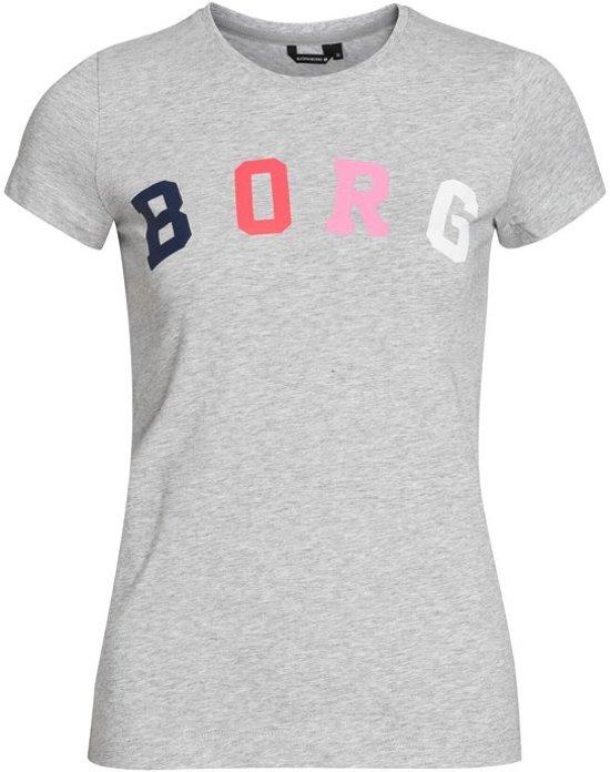 Björn Borg dames t-shirt Tee - grijs-42