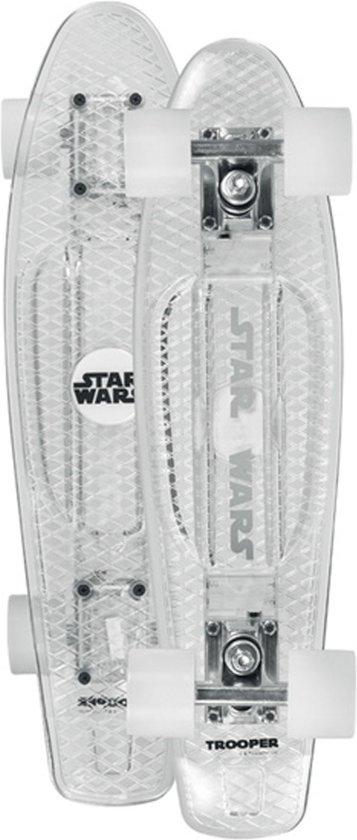 Powerslide Skateboard Star Wars Stormtrooper 22.5x6 Inch Wit