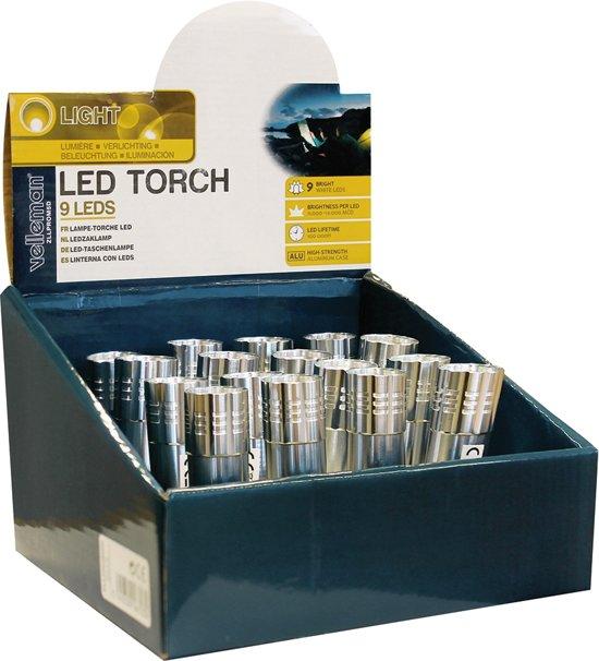 LED zaklamp 9 LEDs