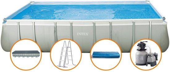 Intex ultra frame rechthoek zwembad 732x366x132 for Zwembad met frame