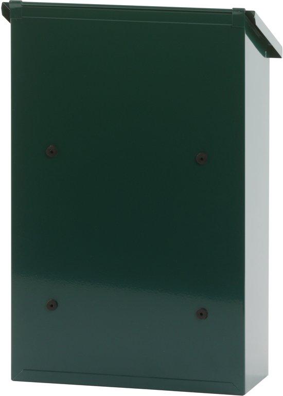 Stalen brievenbus groen - 27x12x40 cm