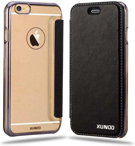 the best attitude 662cf e11ce XUNDD iPhone 6 / iPhone 6S (4,7 inch) Flip Case met transparent Back Cover  Zwart
