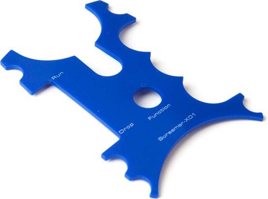 X2 Screamer Beetmelder Frontje   Blauw   4 stuks