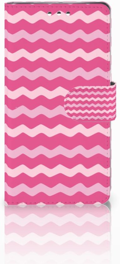 Bookcase Sony Xperia XZ1 Waves Pink