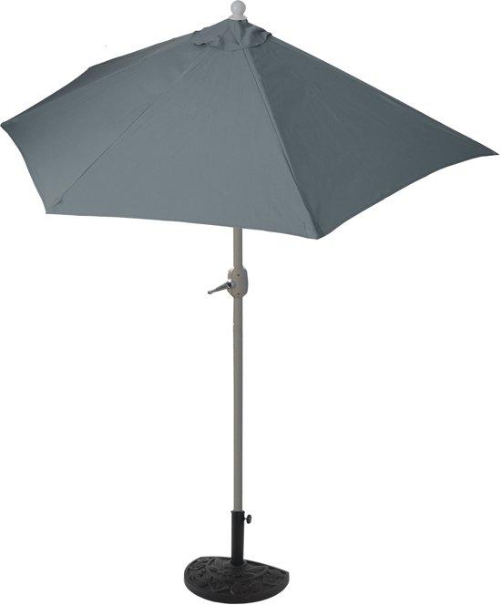 Parasol Voor Balkon.Bol Com Halve Parasol Muurparason Balkon Parasol Antraciet 300 Cm