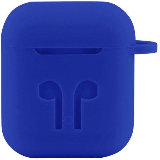 Case Cover Voor Apple Airpods - Siliconen   Blauw   Watchbands-shop.nl