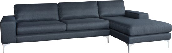 Hoekbank Chaise Lounge.Bol Com Bank Sofa 3 Zits Chaise Longue Antraciet