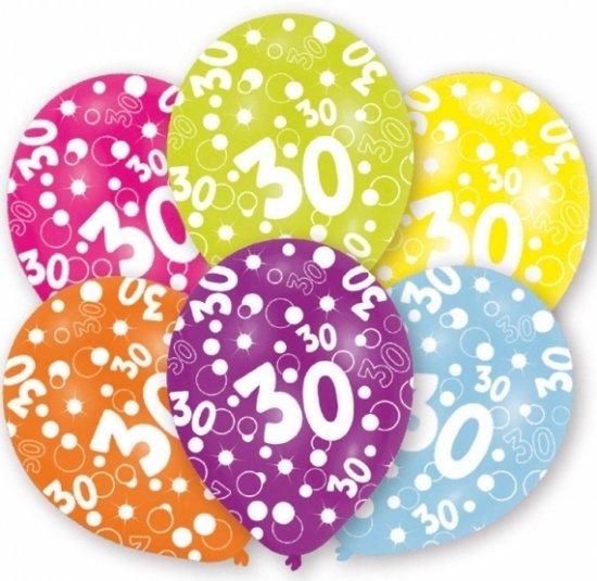 Bol Com 30 Jaar Leeftijd Ballonnen 6 Stuks 30ste Verjaardag