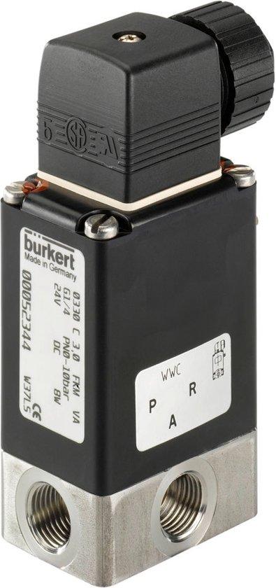 3/2 G1/4'' RVS 24VDC Magneetventiel Burkert 0330 54777 - 54777