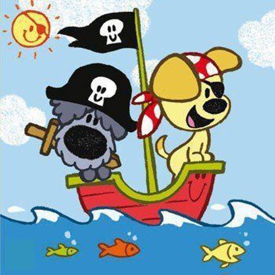 Afbeeldingsresultaat voor woezel en pip piraten