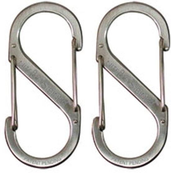 Nite Ize S Biner #1 x2 roestvrij staal zilver