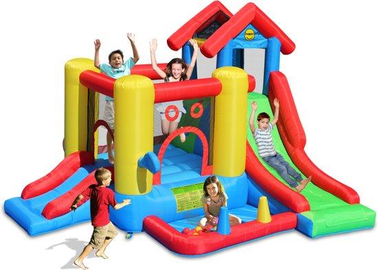 Happy Hop Playcenter Springkussen 7 in 1 - 360 cm x 300 cm x 235 cm – inc. Blower