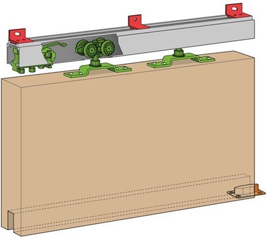 Henderson schuifdeurgarnituur - Husky 100 - aluminium rail 3000mm - H100E/30AN - B10.04850