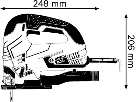 Bosch Professional GST 90 BE Decoupeerzaag - 650 Watt - Met 1 decoupeerzaagblad en opbergkoffer