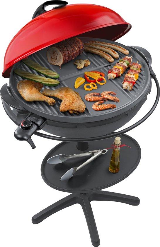 Elektrische Bbq Tafelmodel.Steba Vg400 Elektrische Barbecue Op Statief 53 5 Cm Rood
