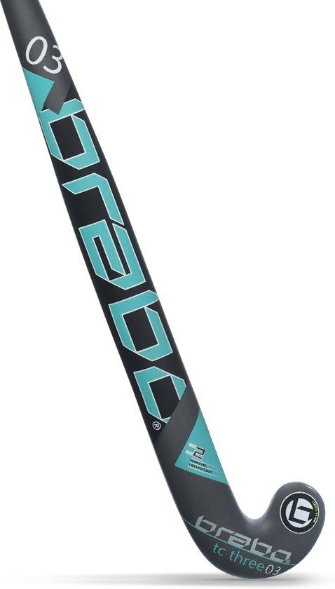 Brabo G - Force TC - 3 Aqua BSJ608E - Hockeystick - Junior - Maat 30 - Black / Aqua