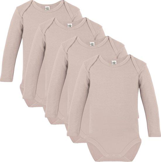 Link Kidswear - Unisex Romper lange mouw - Maat 50/56 - Naturel - 4 stuks