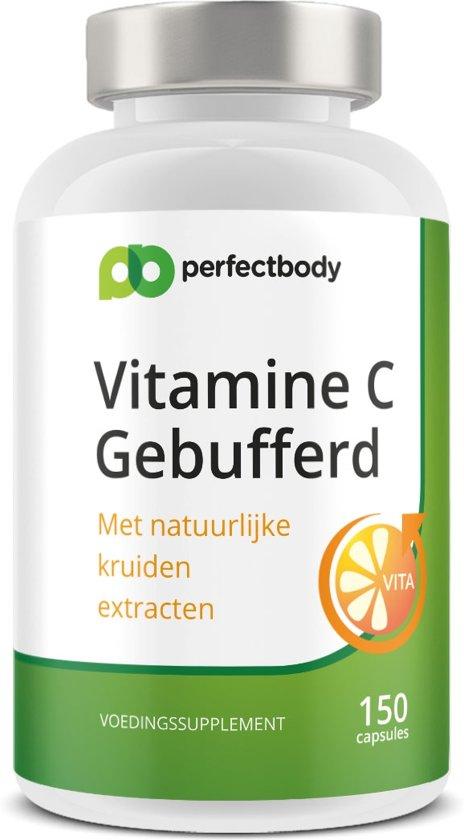 Ester-C (gebufferde Vitamine C) Pillen - 150 Vcaps - PerfectBody.nl