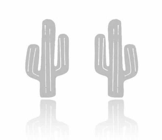 Lovelymusthaves Cactus hippe Oorbellen - Dames - zilverkleurig