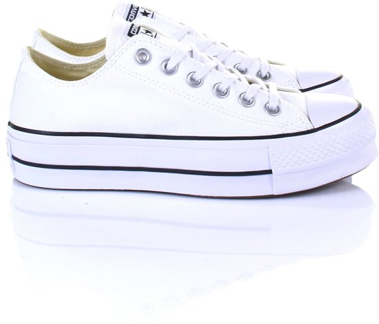 5917be59634 bol.com   Converse Dames Sneakers Chuck Taylor Allstar Lift - Wit - Maat 39