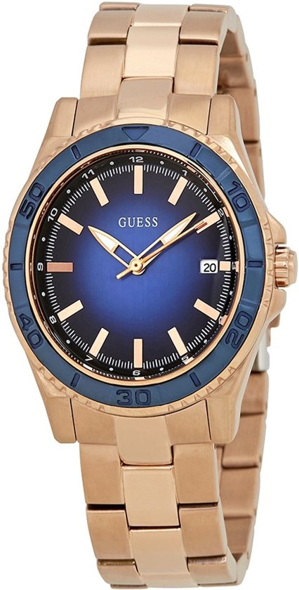 Guess Watches W0469L2 Mini Plugged In - Horloge -  Staal - Rosékleurig - 36 mm