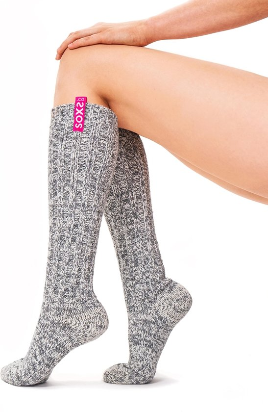 a44a2b66930 Soxs Hoge Stylish Wollen Damessokken SOX3045 Woman - Grijs - Dames - Maat  36-41