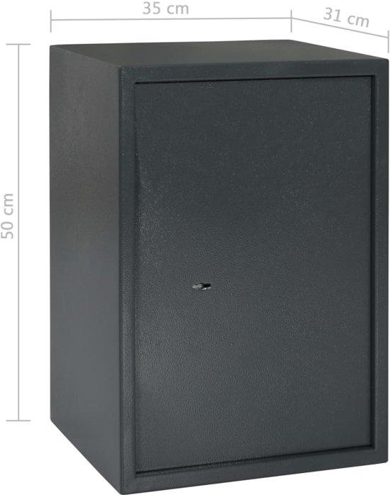 vidaXL Kluis mechanisch 35x31x50 cm staal donkergrijs