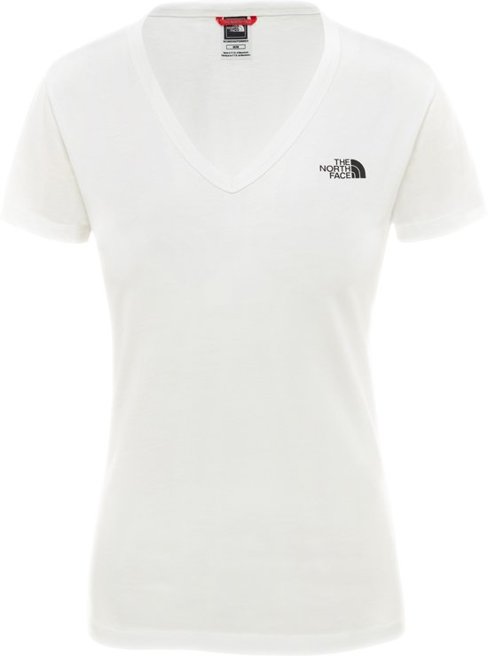 The North Face S/s Simple Dome Tee - Eu Outdoorshirt Dames - TNF White / TNF Black