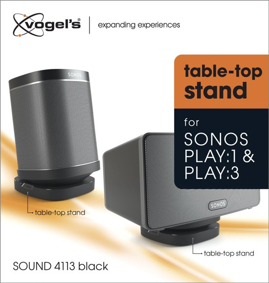 Vogel's Sound 4113 Play:1 & Play:3 Zwart