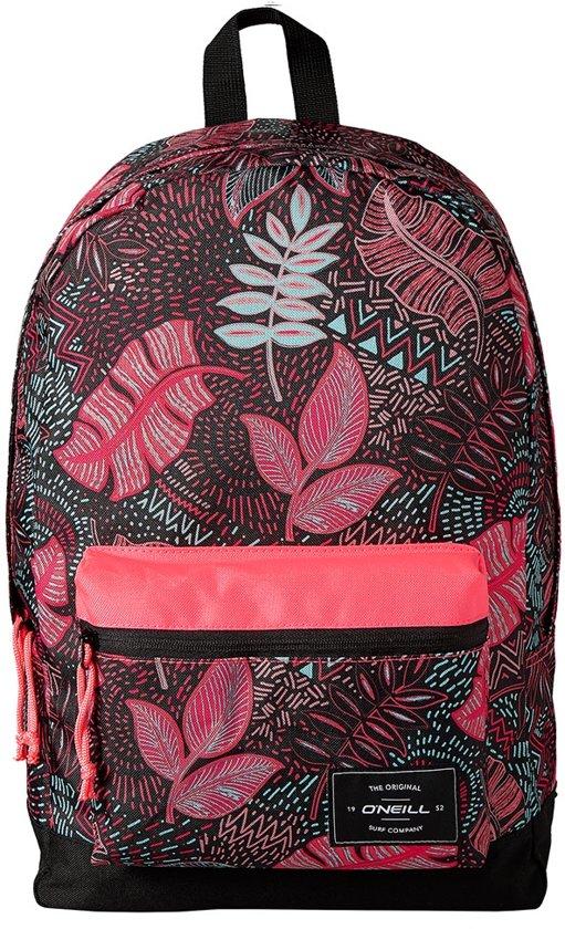 5bbed9b9ac4cec bol.com | O'Neill Rugzak Bm coastline graphic - Black Aop W/ Pink ...