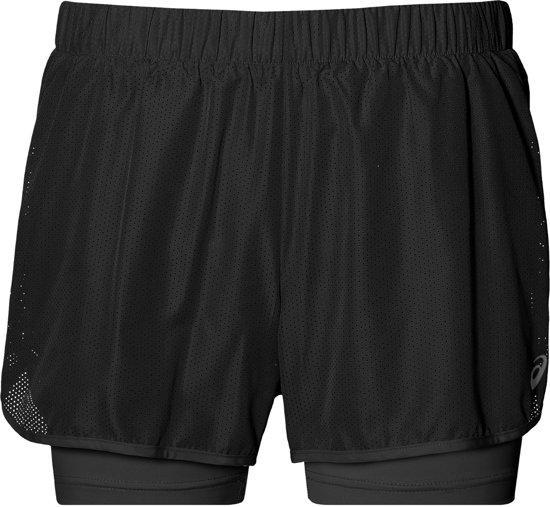 Asics 2-in-1 3,5 inch Runningshort  Sportbroek - Maat S  - Vrouwen - zwart