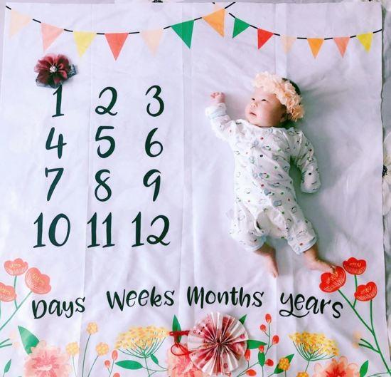 Baby mijlpaaldoek - mijlpaaldeken - milestone - Lente Bloemen