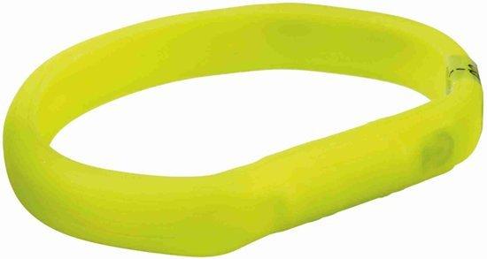 Trixie USB Flash Lichtgevende halsband, L–XL: 70 cm/18 mm, groen